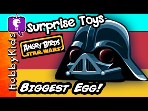 Worlds BIGGEST DARTH VADER Pig Surprise Egg! Toys Funko Blind Bag Lego Star Wars HobbyKidsTV