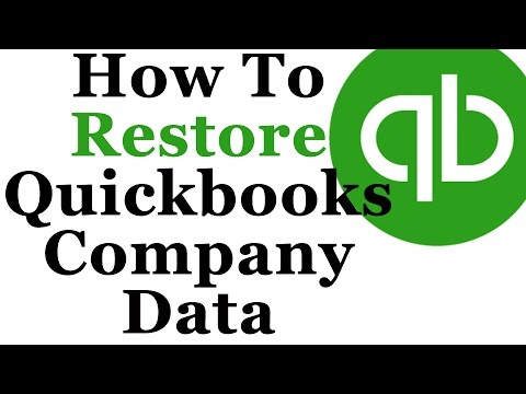 How To Backup & Restore Quickbooks 2013 Company Data