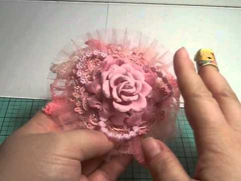 Handmade satin ribbon flowers & upcycled lid cans Part 1 of 2 Nertz game
