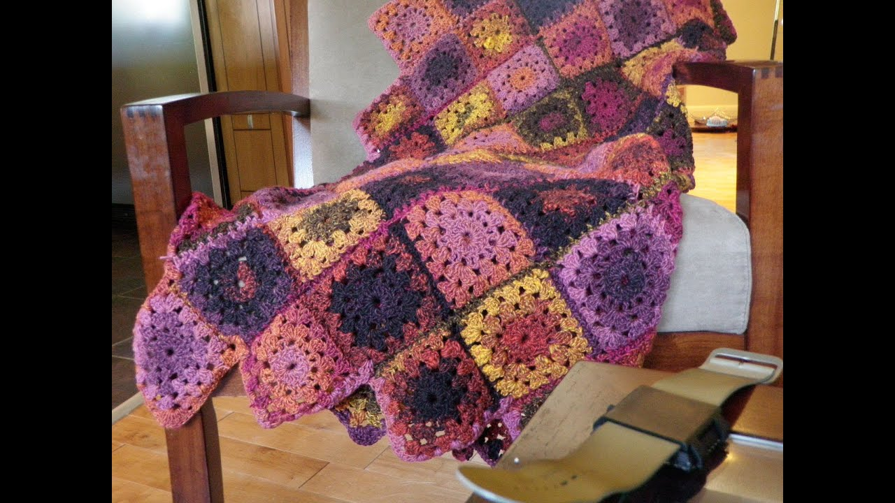 Crochet Afghan Patterns Youtube : Crochet Bumble Berry Pie Afghan - YouTube