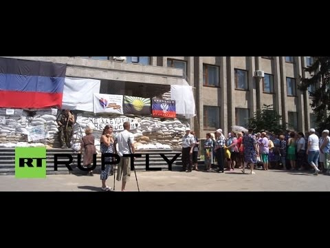 Ukraine: Humanitarian aid handed out in Slavyansk