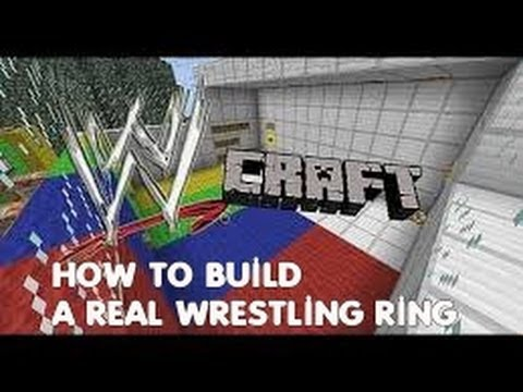 Minecraft | How to Build a WWE Wrestling Ring | Exact Replica!!!