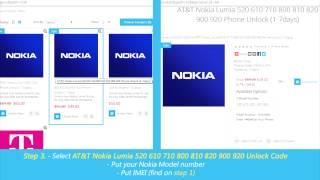 How To Unlock Nokia Lumia By Unlock Code (520 610 710 800