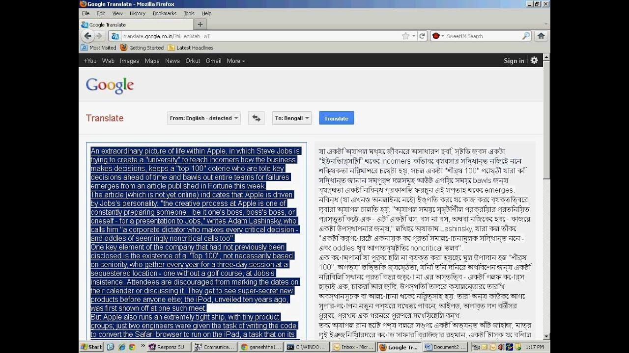 bengali to hindi translation pdf