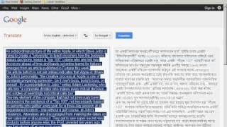 Google Online Translator (Support Indian Language Hindi