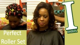 How To Roller Set Hair Tutorial Wash And Set Hair