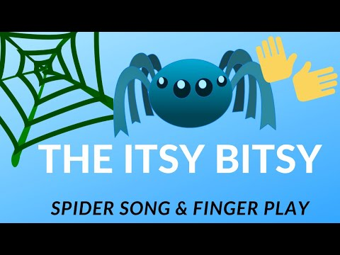 Itsy Bitsy Spider Song Fingerplays For Preschool Youtube