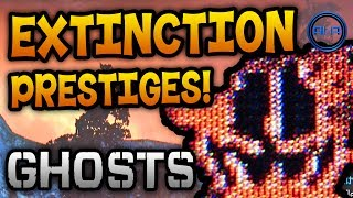 Call of Duty: Ghosts - EXTINCTION Prestige Emblems, Relics & More! - (COD Ghost Gameplay)