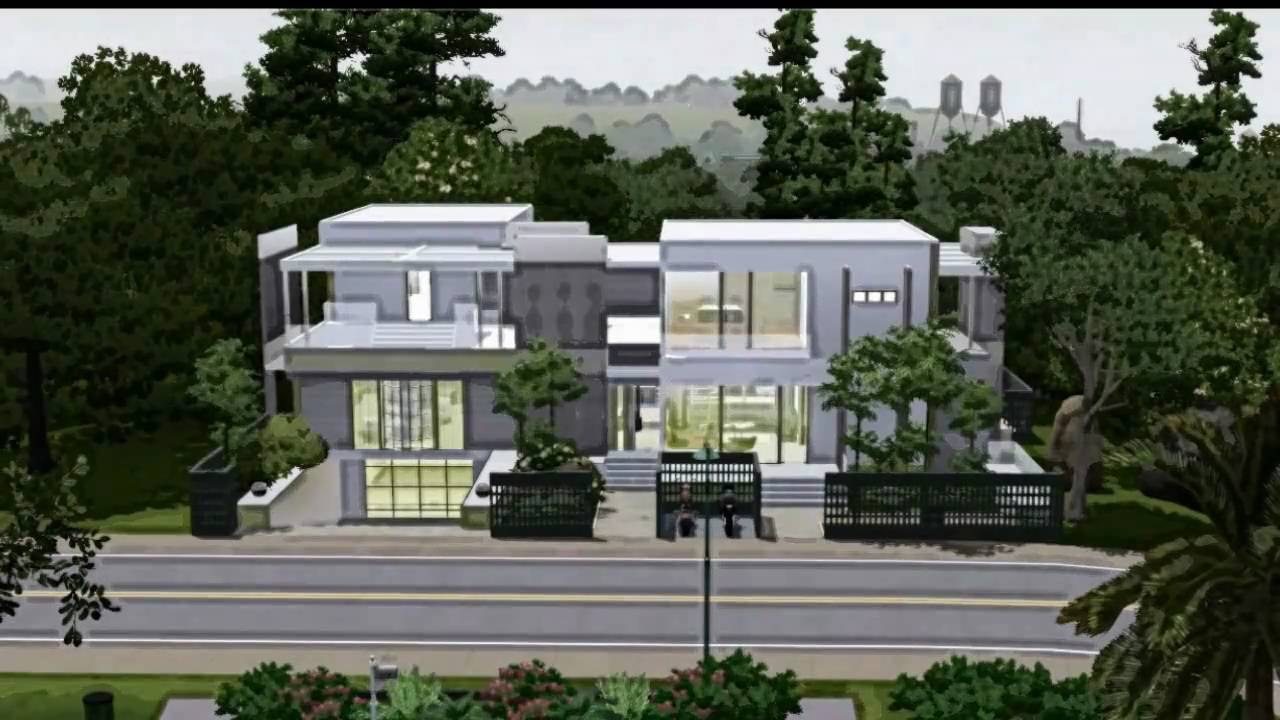 sims3 modern house design with tattoo studio youtube