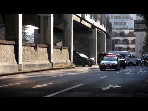 バイデン米国副大統領の車列 motorcade of Joe Biden  Vice President of the United States Tokyo 2013