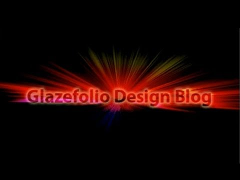 Photoshop Tutorial Light Burst Text Effect | Glazefolio Design Blog