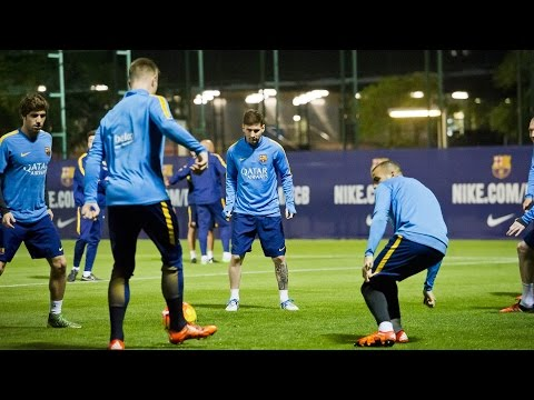 FC Barcelona training