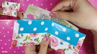 DIY How to make a paper wallet / Cách gấp 1 chiếc ví tiền bằng giấy / Ami DIY