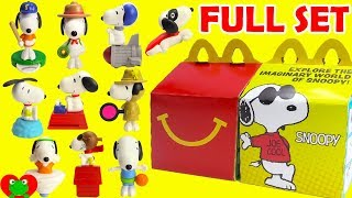 2018 Peanuts Snoopy McDonald's Happy Meal Toys