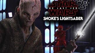 Snoke's Black Lightsaber & Onyx Ring - Star Wars The Last Jedi