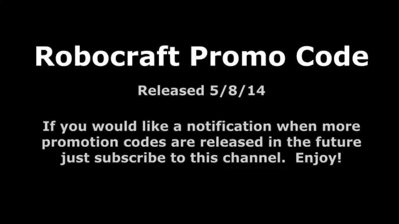 Robocraft Promo Code #1 - YouTube
