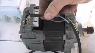 Como conectar un motor de lavadora con escobillas