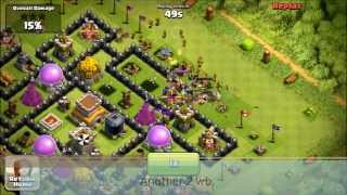 [CoC:98th TH8 Def]4 Crystal League Defenses With Modified