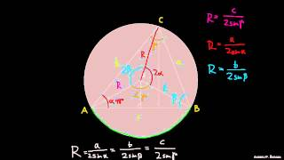 Polmer trikotniku očrtanega kroga