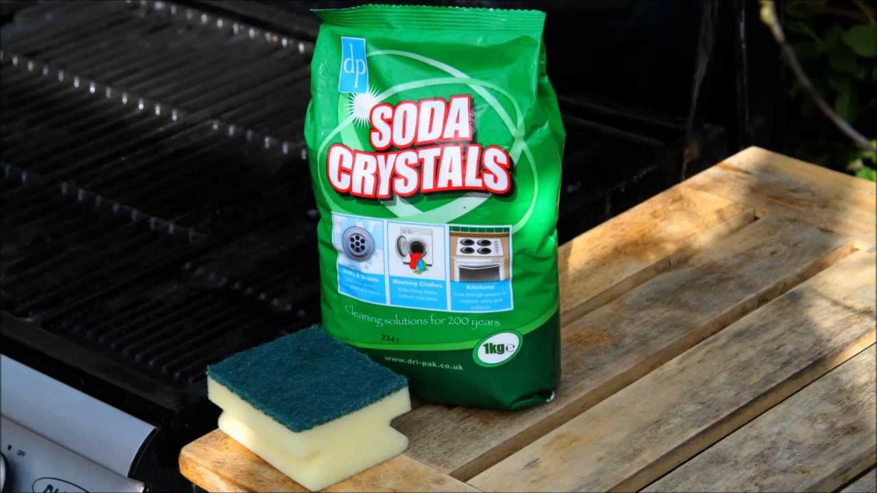 How To Clean Your Barbecue Using Soda Crystals Youtube