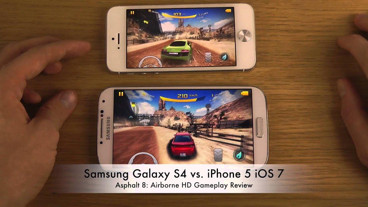 Samsung galaxy s4 vs iphone 5 ios 7 asphalt 8 airborne hd gameplay review youtube - Asphalt 8 hd images ...