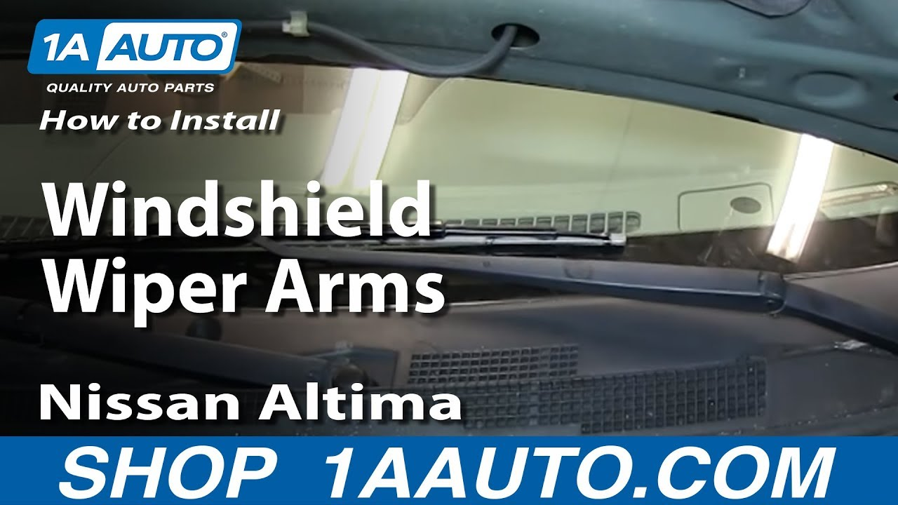 How To Install Replace Windshield Wiper Arms 2002-06 Nissan Altima