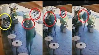 بالفيديو.. شفار سرق هاتف من أمام القهوة وهرب |