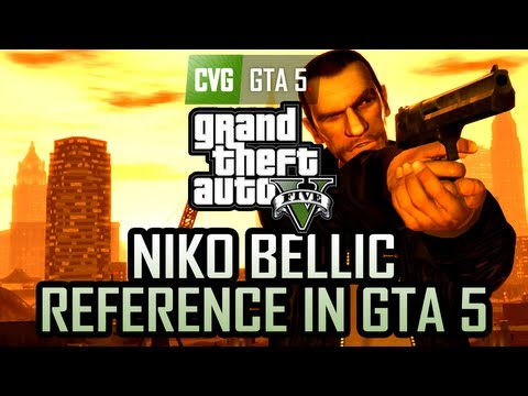 GTA 5 Gameplay - Niko Bellic Reference in GTA 5