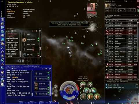 Eve Online pvp Prons vs Duty.  Ac ferox action