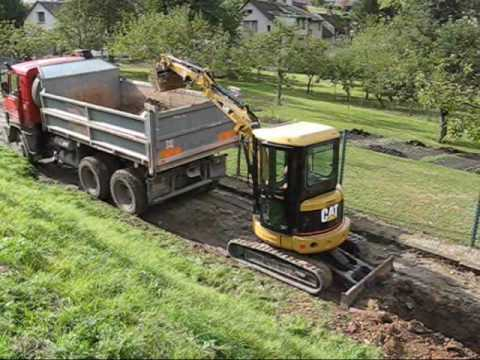 Turnov-stavba vodovodu. Water main construction. Czech Republic. Čistá Jizera