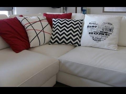 Cojines decorados con pintura textil
