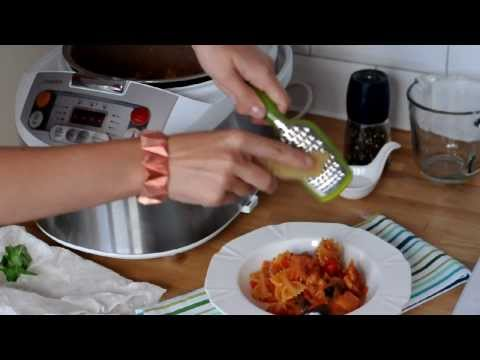 Philips Multicooker: Makaron z serkiem kozim i bakłażanem