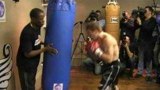 Ricky Hatton Trains For Manny Pacquiao