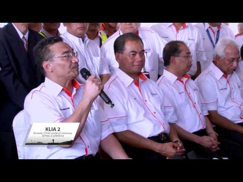 KLIA 2 Runway 3 Trial Landing Ceremony & Press Conference