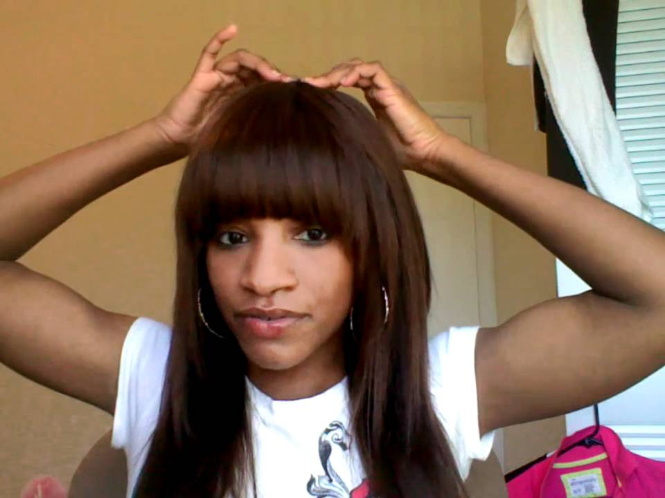 Full Sew in Weave with Side Bangs