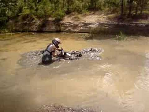 Burying A Honda Rincon 680 In Mud
