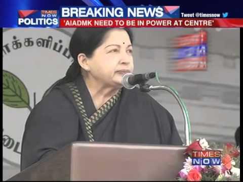 J Jayalalithaa bares her national ambitions