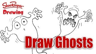 How To Draw Ghosts! Easy Spoken Tutorial