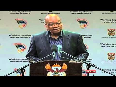 Zuma addresses media about Mandela's passing