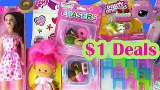 $1 Dollar Tree Toy Haul Barbie Doll Kawaii Food Erasers