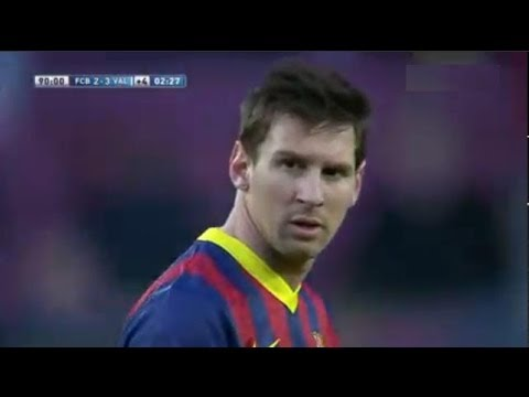 Barcelona vs Valencia 2-3 All Goals & Highlights 01/02/2014  | Barcelona 2-3 Valencia