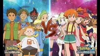 Pokemon Ultra Sun and Ultra Moon: Ash's Friends Battle! (Brock Vs Misty, Clemont Vs Serena, etc)