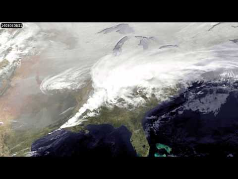 Satellite Video Captures the Eastern U.S. Winter Storm Track