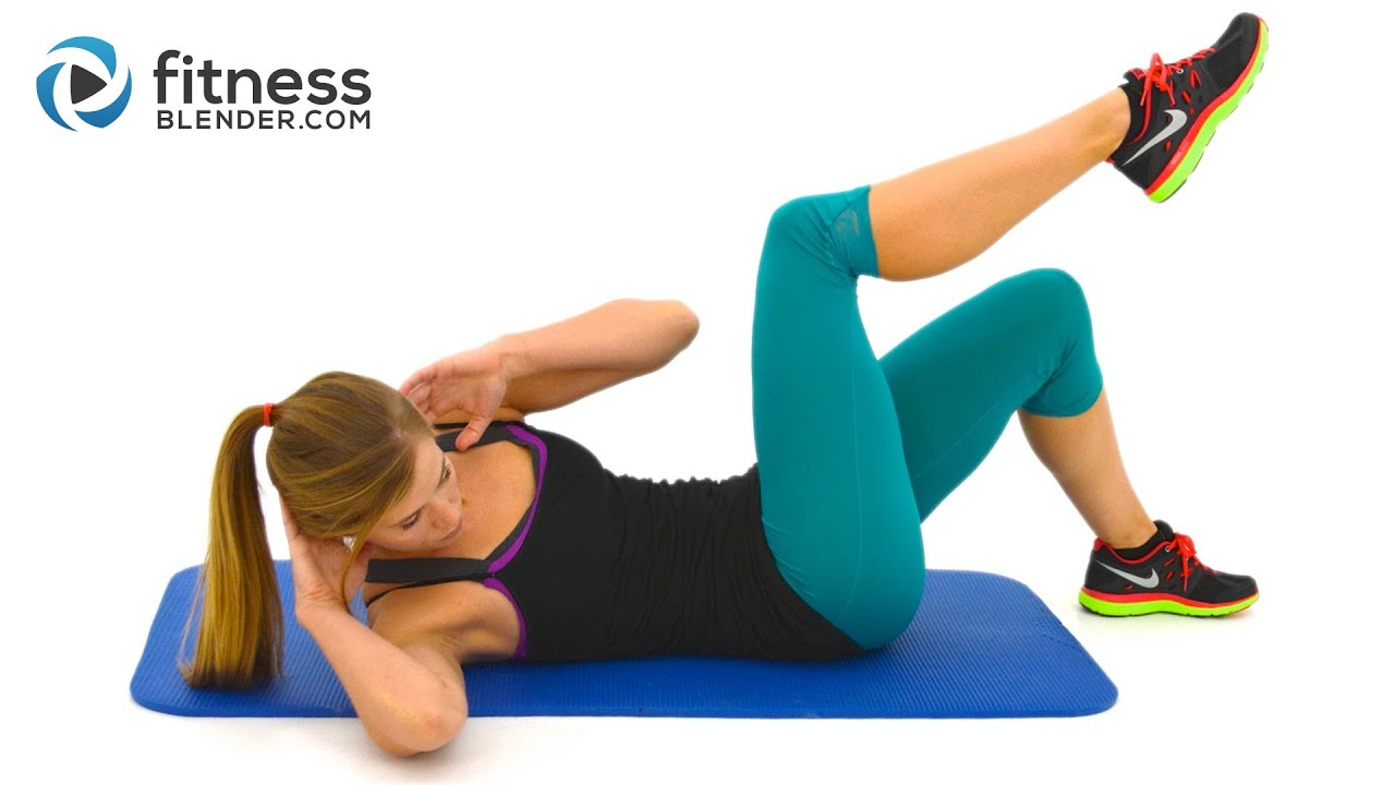 At home abs and obliques exercises with no equipment youtube