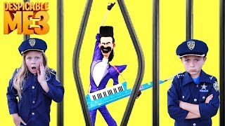 Universal Despicable Me 3 Gru vs Bratt with Kid Cops and Assistant Silly Funny YouTube Kids Video