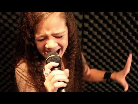 THE TROOPER - Iron Maiden cover by 11 year old Sara & Motion Device