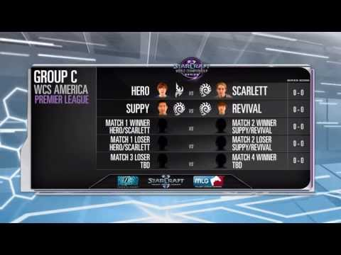Hero vs Scarlett - Game 1 - WCS AM Premier Ro16 Group C