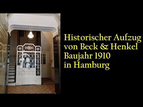 Hamburg - historischer Aufzug von Beck & Henkel Baujahr 1910 [1080p]