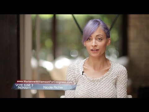 Nicole Richie Endorses Marianne Williamson for Congress
