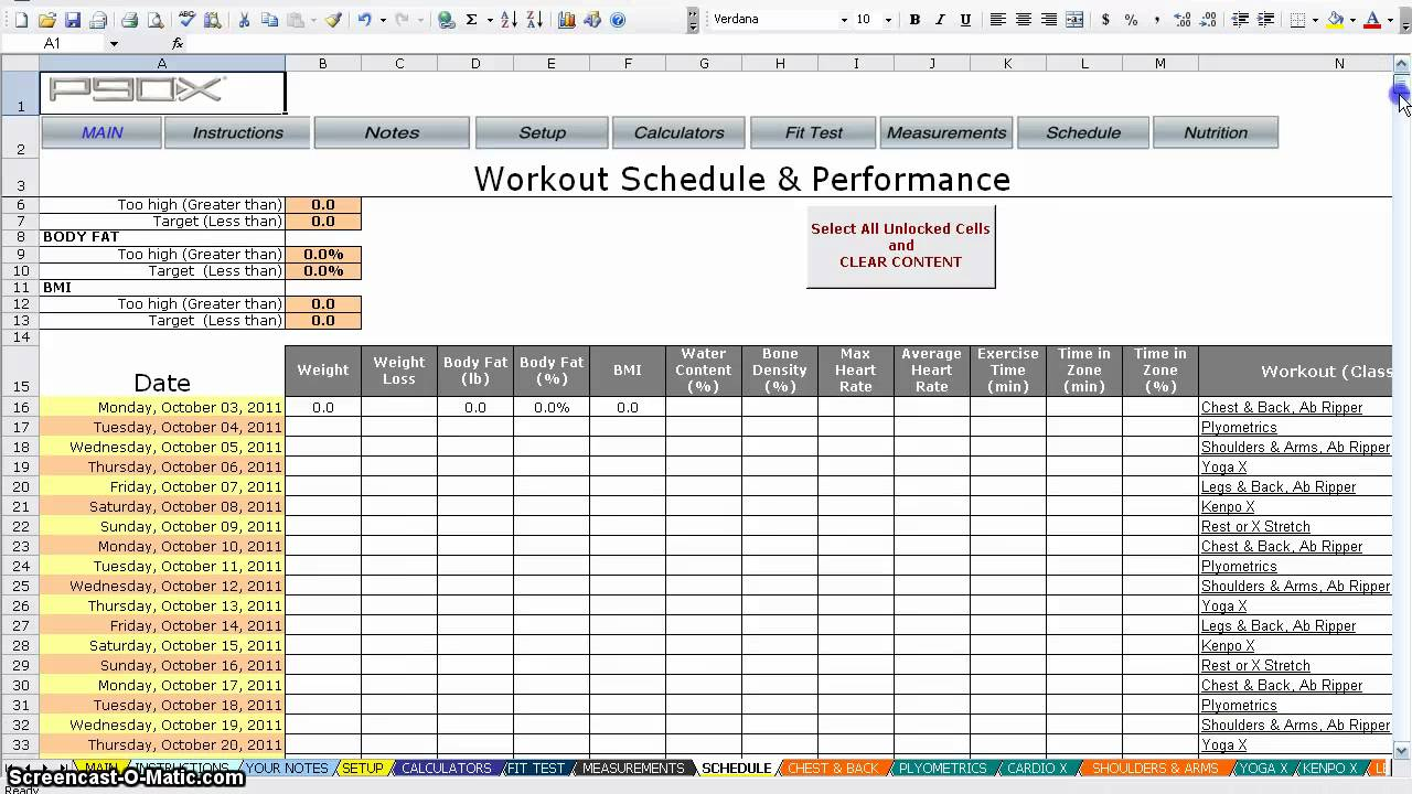P90X Worksheets - YouTube